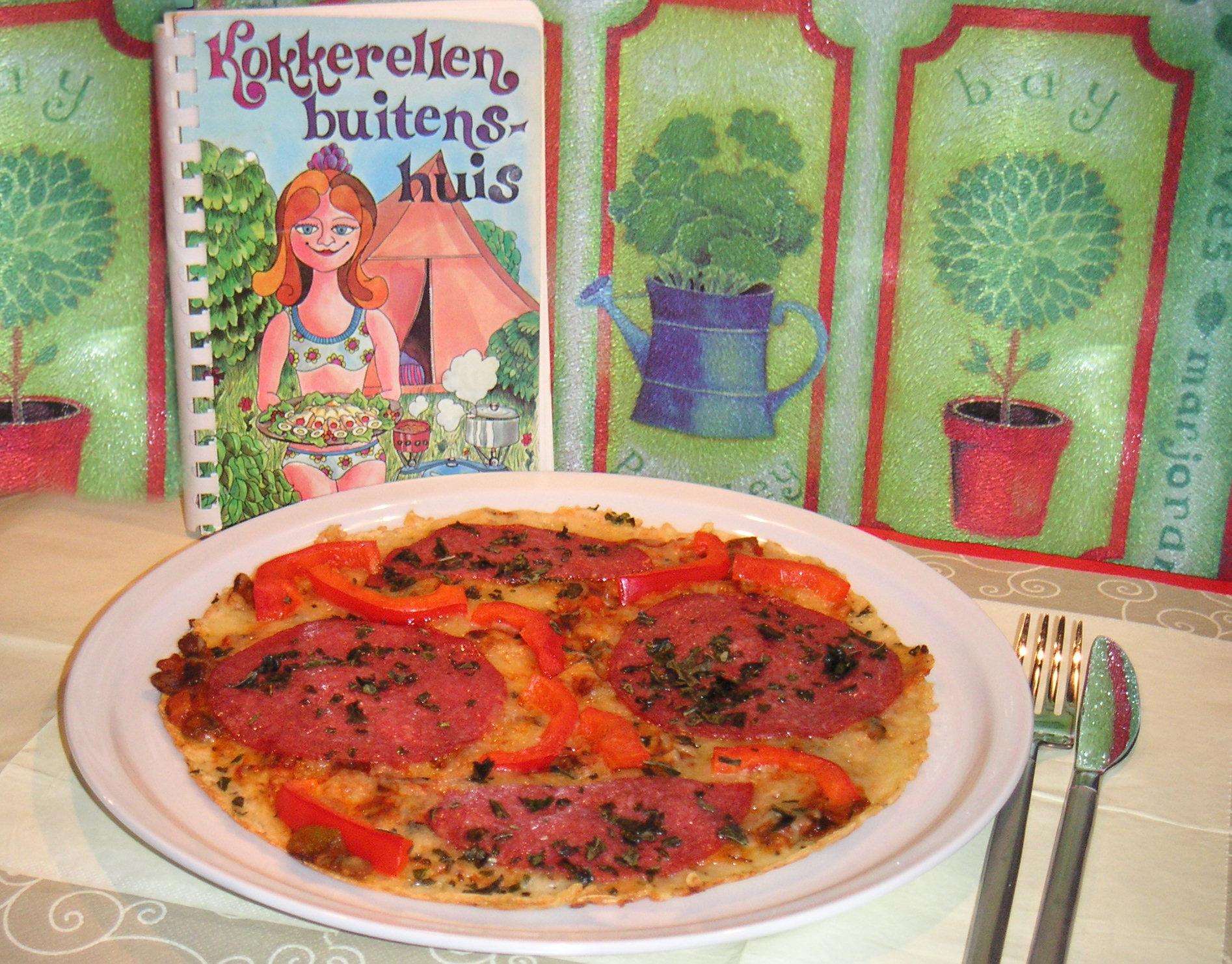 Italiaanse pizza pannenkoek